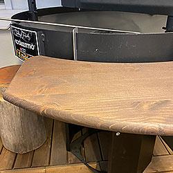 kotakeittiö 80 cm puinen pöytälevy, väri pähkinä, hinta/kpl