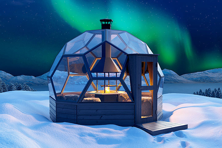 Arctic Light House -iglu